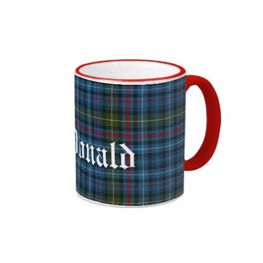Tela escocesa de tartán escocesa de encargo del cl taza