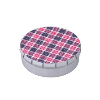 tela escocesa de tartán femenina del Brillo-efecto Latas De Caramelos
