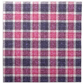 tela escocesa de tartán femenina del Brillo-efecto Servilleta Imprimida