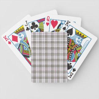Tela escocesa de tartán gris de la moda barajas de cartas
