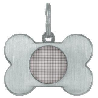 Tela escocesa de tartán gris de la moda placa mascota