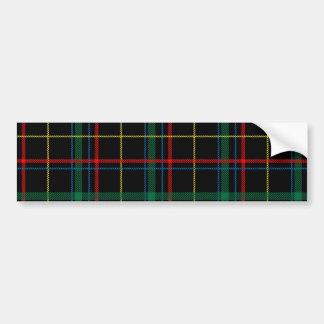 Tela escocesa de tartán masculina pegatina para auto
