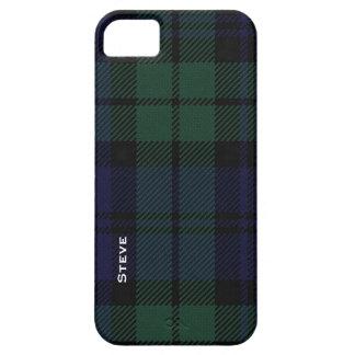 Tela escocesa de tartán negra del reloj iPhone 5 Case-Mate coberturas