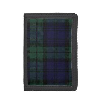 Tela escocesa de tartán negra escocesa tradicional