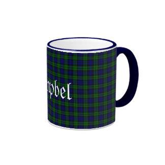 Tela escocesa de tartán negra tradicional del relo tazas de café