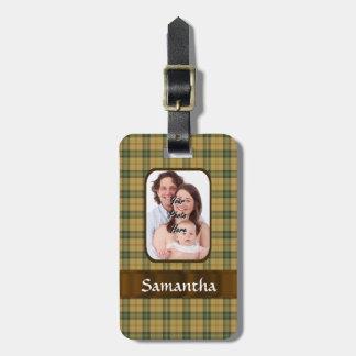 Tela escocesa de tartán personalizada de Saskatche Etiquetas De Maletas