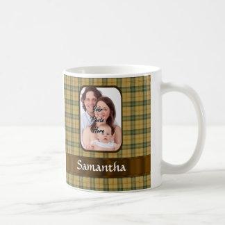 Tela escocesa de tartán personalizada de taza clásica