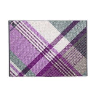 Tela escocesa de tartán púrpura iPad mini cárcasas