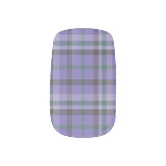 Tela escocesa de tartán púrpura Mani modelada - Pegatinas Para Uñas