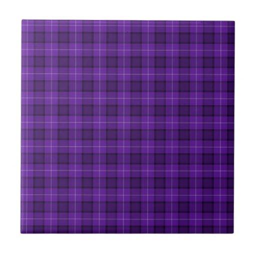 Tela escocesa de tartán púrpura teja  ceramica