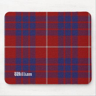 Tela escocesa de tartán roja, blanca, y azul de Ha Mousepads