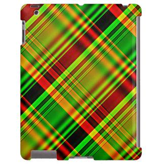 Tela escocesa de tartán roja y verde funda para iPad