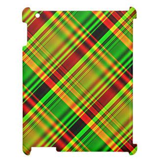Tela escocesa de tartán roja y verde