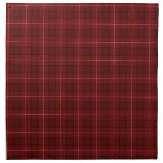 Tela escocesa de tartán rojo oscuro servilleta imprimida