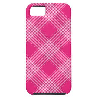 Tela escocesa de tartán rosada iPhone 5 Case-Mate cárcasa