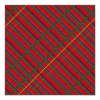 """Tela escocesa de tartán tradicional cualquier invitación 5.25"""" x 5.25"""""""