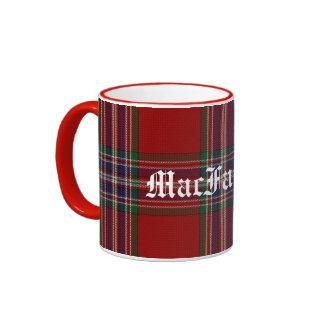 Tela escocesa de tartán tradicional de encargo de  taza