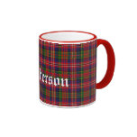 Tela escocesa de tartán tradicional de encargo de  tazas