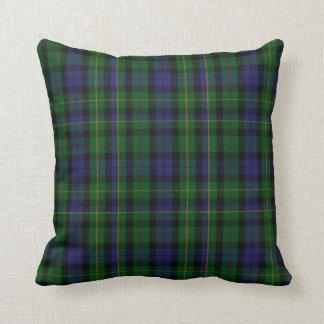 Tela escocesa de tartán tradicional del clan de cojín decorativo