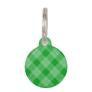 Tela escocesa de tartán verde identificador para mascota