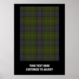 Tela escocesa de tartán verde posters
