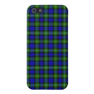 Tela escocesa de tartán verde y azul iPhone 5 fundas