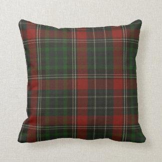 Tela escocesa de tartán verde y roja tradicional d almohada