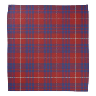 Tela escocesa de tartán vieja de Hamilton del clan Bandana