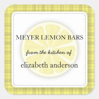 Tela escocesa del amarillo de la rebanada del limó