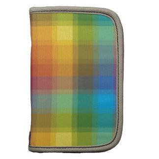 Tela escocesa del arco iris planificador