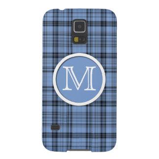 Tela escocesa del azul del Cornflower del Carcasa Para Galaxy S5