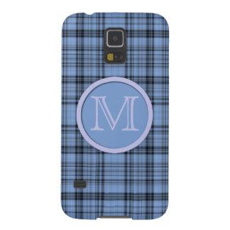 Tela escocesa del azul del Cornflower del Funda De Galaxy S5