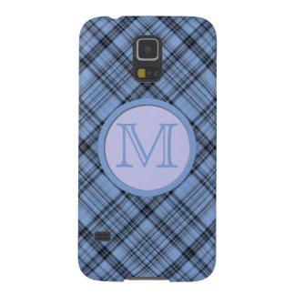 Tela escocesa del azul del Cornflower del Funda Para Galaxy S5