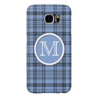 Tela escocesa del azul del Cornflower del Fundas Samsung Galaxy S6