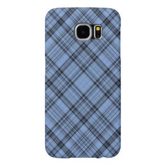 Tela escocesa del azul del Cornflower Fundas Samsung Galaxy S6