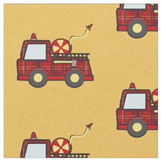 Tela escocesa del coche de bomberos telas