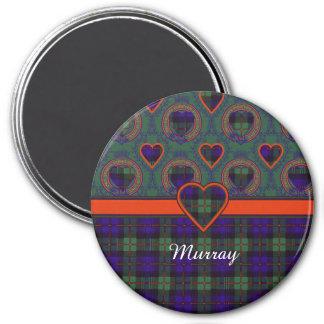 Tela escocesa del escocés del tartán de Murray Imán Redondo 7 Cm