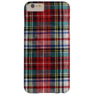 Tela escocesa del invierno del navidad caliente y funda de iPhone 6 plus barely there