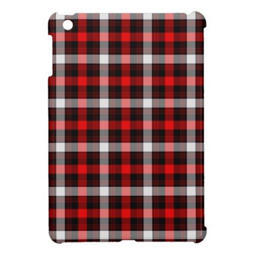 Tela escocesa del leñador iPad mini carcasa