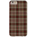 Tela escocesa del moreno, roja y verde funda de iPhone 6 plus barely there