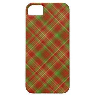 Tela escocesa del navidad funda para iPhone SE/5/5s