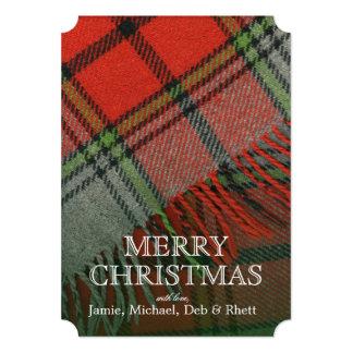 """Tela escocesa del navidad invitación 5"""" x 7"""""""