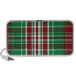 Tela escocesa del navidad iPod altavoz