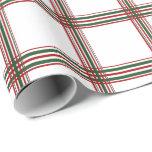 Tela escocesa del navidad papel de regalo