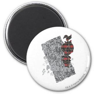 Tela escocesa del punk de PEBBLES™ Imán Redondo 5 Cm