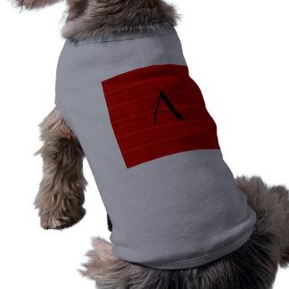 Tela escocesa del rojo del monograma camisetas mascota