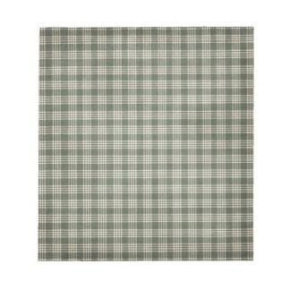 Tela escocesa del verde verde oliva blocs de papel