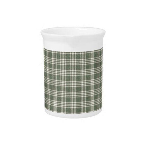 Tela escocesa del verde verde oliva jarrón