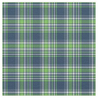 Tela escocesa deportiva azul y verde telas