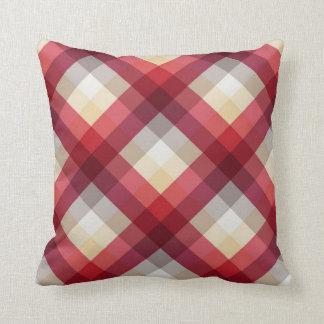 Tela escocesa diagonal 2 cojín decorativo